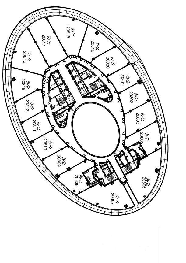 银河soho标准层平面图